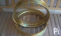For SALE! TAKASAGO ANODIZED GOLD alloy RIMS pang motard