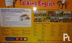Talking English by Grolier. With a read along pen