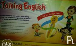 Learning English is fun with a read-along Talking Pen