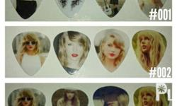 TAYLOR SWIFT unofficial guitar picks 200 (in every 4