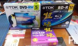 TDK (cd-r, dvd-r, blu-ray) all kinds of TDK Disc *all