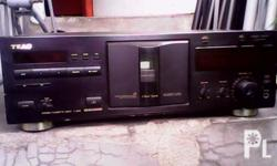 Tape deck by Teac. Can play cassette tapes. 110v.