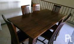 Teak wood dinning room set with chairs like new