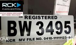 We use quality acrylic material for car plates and car
