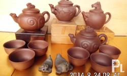 Authentic from Japan, one set Terracotta teapot and