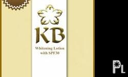 The 3-in-1 wonder of KB Whitening Lotion with SPF30 50z