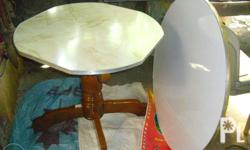 3 pcs.changeable round top boards:white Formica height: