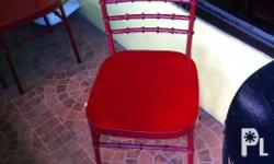 Tiffany chairs 650 each (6 pcs available) / table 1500