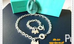 Tiffany & Co. Ten Row Chain Disc Toggle Heart Set