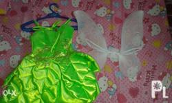 Tinkerbell costume Fits to 2-4 years old brand new(as