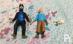 Selling as set. Characters: Tintin, Captain Haddock,