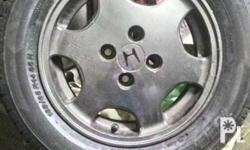 """For sale only 13k Orig honda mags 15 """" 2 tires new 2"""