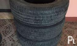 Used tires with 50% thread life, 4pcs good for pick-up