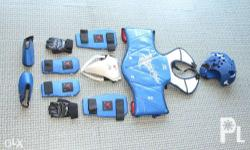1Set TKD GEAR blue Size #2 Body Armour BAG Included 2nd