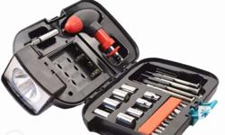 Brandnew tool box. Portable. With light and battery.