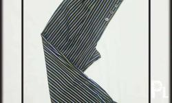 TOPSHOP Striped Tapered Trousers US 8 EUR 40 UK 12