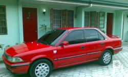 Toyota Corola 1990 model 16 Valve Color: Red 2010