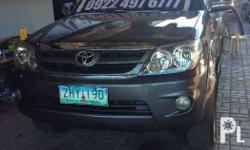 toyota fortuner 2007 matic diesel. color gray,cold ac