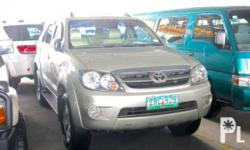 Vehicle Options 2008 Toyota Fortuner Year: 2008