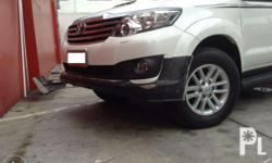 toyota fortuner Trd bodykit includes front chin and