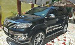 toyota fortuner V 2014 new mags and tire DVD , GPS ,