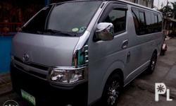 toyota hiace commuter 2012 model . fresh in out .