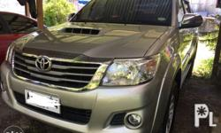 2014 Toyota hilux g 4x2 manual color lithium Davao
