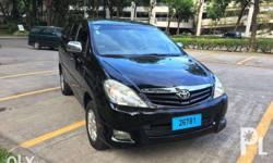 Single owner, black 2009 Toyota Innova. Good condition,