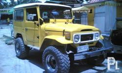 Description Condition: Used BJ-40 MODEL TOYOTA B ENGINE