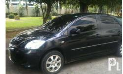 Black Toyota Vios 1.3e. tinted. all stock.