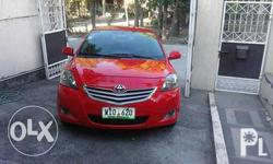 Toyota vios 1.3g matic red 2013 model 56k mileage good