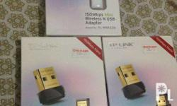 TP Link Wireless N USB Adapter Brand New Sealed 3 pcs