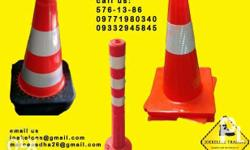 traffic cone bollard post rubber or plastic available