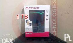 Transcend Portable External Hard Drive USB 3.0 1tb 2tb