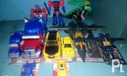 For sale are the following transformers action figures
