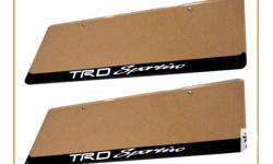 TRD-Sportivo Plate Cover - Pair - With Screws Shipping