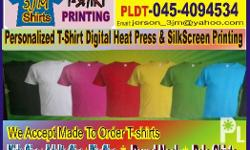 we accept T-shirt printing and made to order shirts