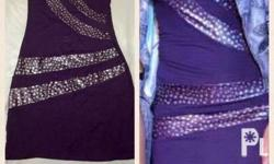 Tube Purple (Open back) Dress Used once