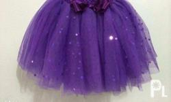 Customized tutu skirt and dress for babies and kids for