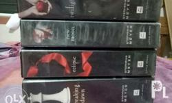 Twilight series (all 4 books). In good condition, with