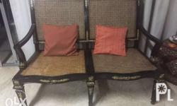 Filipino inspired wooden rustic 2 seater bench with