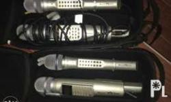 Microphone set if 2 with -2 mic per set -2 leather bag