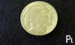 United States of America 1937 Five Cents coin Indian