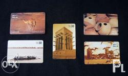 Lot of 5 Used UAE Phone Cards Highly Collectible Good