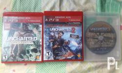 For sale uncharted 1 2 and 3 No issue no scratch 900