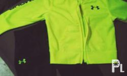 Under armour hoodie and jogging pants set (Neon yellow