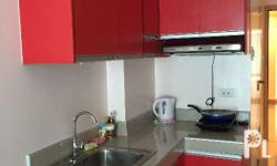 24 sqm unit with balcony Fully furnished In front of