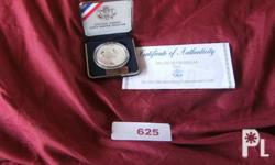Deskripsiyon Ref. # 625  United States USO,1991 silver