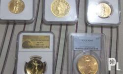 Various US gold coins with NGC or PCGS certifications,
