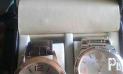 Mens watch , brand new , rosegold 2 pcs for 4000 .